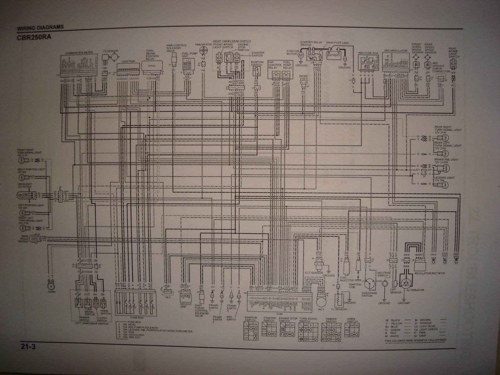 electrical diagram | Honda CBR 250 Forum
